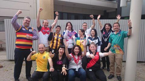 Staff celebrating Jersey Day 2015